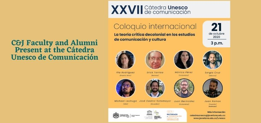 C&J Faculty and Alumni Present at the Cátedra Unesco de Comunicación